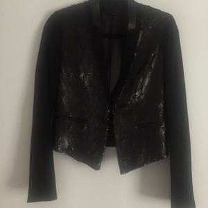 Elie Tahari Sequined And Crepe Blazer